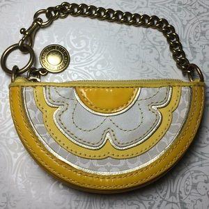 Authentic Coach yellow daisy coin purse/charm